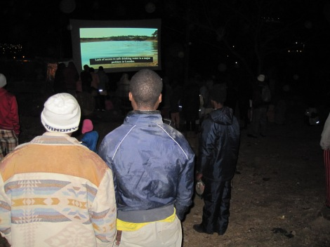 Siyakhona mobile cinema community screening