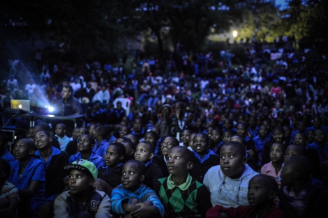 Over a thousand people filled the amphitheatre at the museum in Morija, a town just south of Maseru, for the road show's final screening | © Meri Hyöky Photography