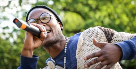 Sledge performing at Shake The Dust in Morija